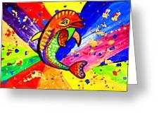 Dolphin Pop Art  Greeting Card