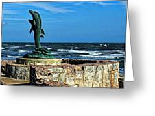 Dolphin Statue Greeting Card