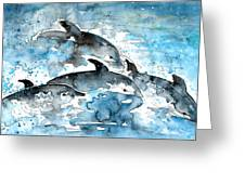 Dolphins In Gran Canaria Greeting Card