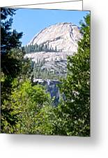 Dome Next To Half Dome Seen From Yosemite Valley-2013 Greeting Card