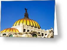 Dome Of Palacio De Las Bellas Artes Greeting Card