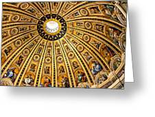 Dome Of St Peter's Basilica Vatican City Italy Greeting Card