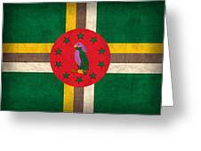 Dominica Flag Vintage Distressed Finish Greeting Card