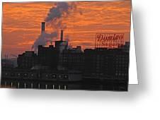 Domino Sugars Sunrise Greeting Card