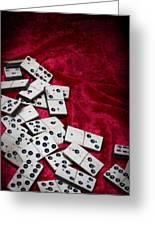 Dominoes Greeting Card
