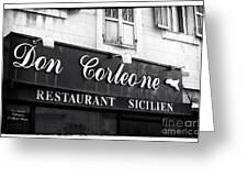 Don Corleone Greeting Card