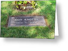 Don Knotts Grave Greeting Card