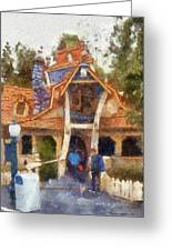 Donalds Boat Disneyland Toon Town Photo Art 02 Greeting Card