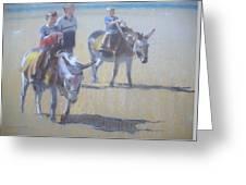 Donkeys At Borth Beach Greeting Card