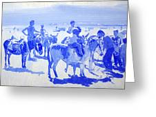Donkey's On The Beach Greeting Card