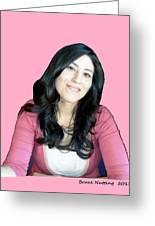 Donna In Pink Greeting Card