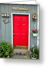 Donna's Red Friendship Door Greeting Card