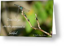 Don't Let Go Greeting Card