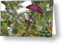 Don't Let It Rain On My Tree Greeting Card