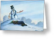 Dont Fuck With Frosty For He Can Really Ruin That Holiday Spirit Greeting Card