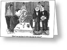 Don't You Just Love It When They Lick The Plates? Greeting Card