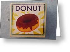 Donut Wood Block Greeting Card