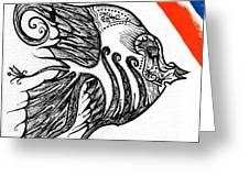 Doodle Eye. Greeting Card
