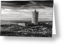 Doonagore Castle Black And White Greeting Card
