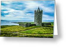 Doonagore Castle In Ireland's County Clare Greeting Card