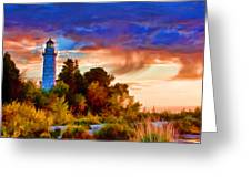 Door County Cana Island Wisp Greeting Card