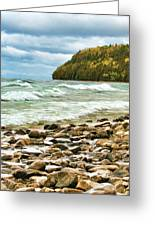 Door County Porcupine Bay Waves Greeting Card