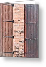 Door Hinges Greeting Card by Tom Gowanlock