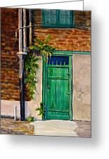 Door In New Orleans Greeting Card