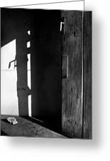 Door In Silhouette  Greeting Card