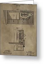 Door Lock Patent Greeting Card