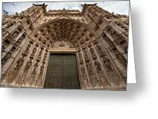 Door Of Assumption Of The Seville Cathedral Greeting Card