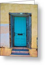 Door On Adobe House Greeting Card
