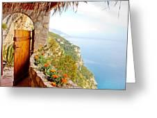 Door To Paradise Greeting Card