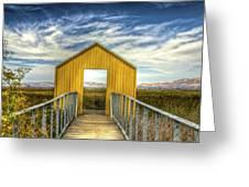 Door To The Marshlands Greeting Card