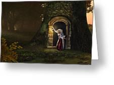 Door To The Underworld Greeting Card by Bob Nolin