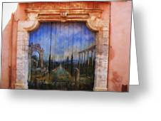 Door With A View Greeting Card
