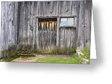 Barn Door With A Window Greeting Card