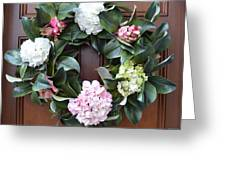 Door Wreath Greeting Card