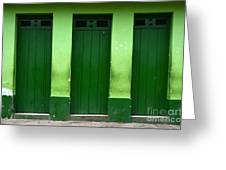 Doors And Windows Lencois Brazil 1 Greeting Card