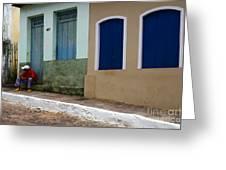 Doors And Windows Lencois Brazil 3 Greeting Card