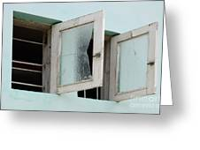 Doors And Windows Lencois Brazil 5 Greeting Card