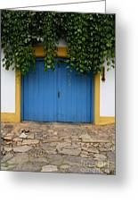 Doors And Windows Minas Gerais State Brazil 11 Greeting Card
