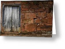 Doors And Windows Minas Gerais State Brazil 3 Greeting Card