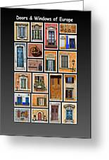 Doors And Windows Of Europe Greeting Card