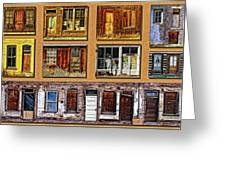 Doors And Windows Greeting Card