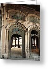 Doors And Windows - Umar Hayat Mahal Greeting Card by Murtaza Humayun Saeed