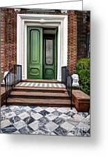 Doors Of Historic Charleston Greeting Card
