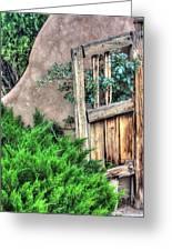 Door, Santuario De Chimayo Greeting Card