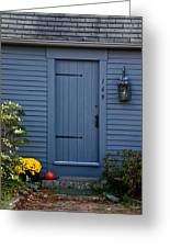 Doorway In Maine Greeting Card