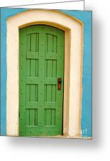 Doorway In The Hollywood Hills Greeting Card